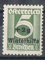 Sello AUSTRIA 1933, Socorro De Invierno, Winterhilfe 2 S 5 G,  Yvert 437 * - 1918-1945 1ra República