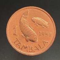 Malawi 1 Tambala (non Magnetic) 1995. UNC Africa Coin. Animals (Fauna) Fishes - Malawi