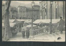 Gard.Alès: Carte Multivue  ,le Marché Du Lundi - Alès