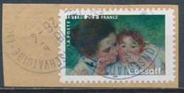 France - Les Impressionnistes - Mary Cassatt YT A76 (3868) Obl. Cachet Rond Sur Fragment - Adhésifs (autocollants)