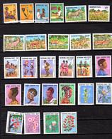 1986-87   Burkina, Enfant, Animaux, Culture Bobo, Fleurs, Entre 705 Et 736**, Cote 45 €, - Burkina Faso (1984-...)