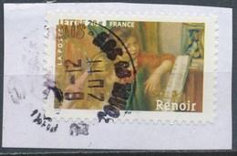 France - Les Impressionnistes - Auguste Renoir YT A77 (3869) Obl. Cachet Rond Sur Fragment - Adhésifs (autocollants)