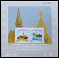 393 - Laos 2015  BF 219 ; Block 253 A **  MNH  Laos-Russia - Laos