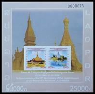 393 - Laos 2015  BF 219a ; Block 253 B **  MNH  Laos-Russia - Laos