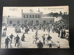 Non Circulée Animée Cyclistes La Gare De Saint Valéry En Caux - Saint Valery En Caux
