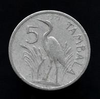 Malawi 5 Tambala 1989-94.  Km9.2a. Africa Coin - Malawi