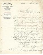 Lettre 1880 / 54 BAYON / FRUHINSHOLZ Frères / Tonnelleries Mécaniques / 67 SCHILTIGHEIM / 88 Lemaire FONTENOY - France