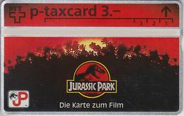 SUISSE - PHONE CARD - TAXCARD-PRIVÉE *** JURASSIC PARK *** - Switzerland