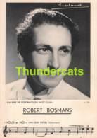 CPA JAZZ CLUB PORTRAIT ROBERT BOSMANS - Musique Et Musiciens