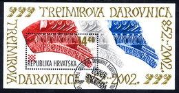 CROATIA 2002 Prince Trpimir's Deed Of Gift Block Used.  Michel Block 20 - Croazia