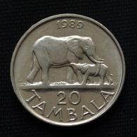 Malawi 20 Tambala 1989-94.  Km11.2a. Africa Coin - Malawi