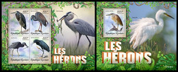 TOGO 2019 - Herons, M/S + S/S. Official Issue - Cigognes & échassiers