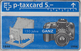 SUISSE - PHONE CARD - TAXCARD-PRIVÉE *** 150 - GANZ - PHOTO-VIDÉO *** - Switzerland