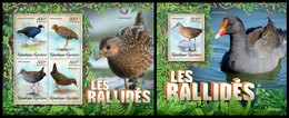 TOGO 2019 - Gruiformes Birds (Rails), M/S + S/S. Official Issue - Grues Et Gruiformes