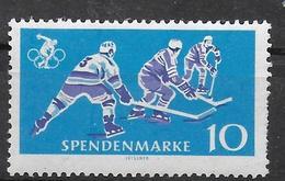 DDR 1964 Spendenmarke 10 Pfg Ice Hockey - Hockey (Ijs)