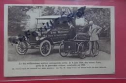 Cp Pub La Dix Millionieme Voiture Automobile Sortie Le 4 Juin - Werbepostkarten