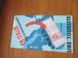 Guide Touristique En Italie économiquement Grâce à La Lire Touriste 24 Pages Années 30 Mussolini - Tourism Brochures
