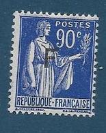 Timbre Neuf * France, N°10 Yt, Franchise Militaire ,1939, Paix, Charnière, Pour Réfugiés Espagnols - Franchise Militaire (timbres)