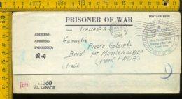 Militare Seconda Guerra Franchigia Prigionieri America USA Broni Monteveneroso Pavia - Storia Postale