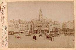 Photo Ancienne Sur Carton - Saint Quentin - Hôtel De Ville ( Dim 16x10 Cm) - Photos