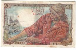 France 20 Francs 21/05/1942 - 20 F 1942-1950 ''Pêcheur''