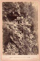 Photo Ancienne Sur Carton - Passage De La Tête Noire ,Valais,Suisse ( Dim 16x10 Cm) - Photos
