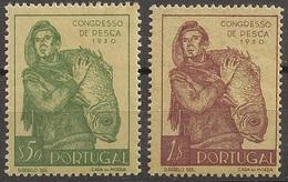 Portugal 1951 - Série Completa Congresso Nacional Pescas 731 732 - Set Complete Fishing Congress - Mint MNH**/ Neuf - Ongebruikt