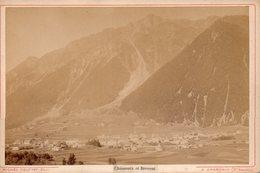 Photo Ancienne Sur Carton - Chamonix Et Brevent ( Dim 16x10 Cm) - Photos