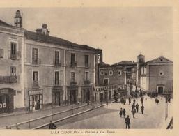 Cartolina - Postcard /  Viaggiata - Sent / Sala Consilina, Piazza E Via Roma  .( Gran Formato) - Salerno
