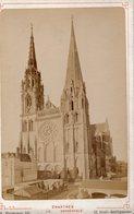 Photo Ancienne Sur Carton - Cathédrale De Chartres ( Dim 16x10 Cm) - Antiche (ante 1900)