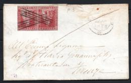 Toscana 1851 1cr Coppia Su Lettera Da Grosseto A Firenze 29/5/55 Sass.4 O/Used VF/F - Tuscany