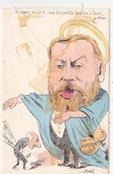 CPA Peinte à La Main Caricature Satitique Politique Patriotique JAURES (Le Frelon N°3 Ou 6)  Illustrateur BOBB (2 Scans) - Personnages