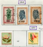 13585 RUANDA-URUNDI Collection Vendue Par Page N° 173/5, 178, 180, 200/1  */° 1949-56  B/TB - Ruanda-Urundi