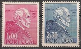 Portugal 1952 - Série Completa Nascimento Gomes Teixeira 753 754 - Set Complete Birth Of Teixeira - Mint MNH**/ Neuf - 1910-... Republic
