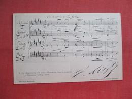 Beginning Of 7 Part  Chorus In Liszt'd Oratorio Christus Music      Ref  3459 - Music And Musicians
