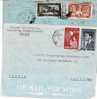 TP N° 170 Et PA 11 D'Indochine Et 44 Et 90 Du Vietnam Sud Sur Enveloppe Et Devant De Saïgon - Viêt-Nam
