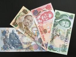 BOTSWANA SET 10 20 50 100 PULA BANKNOTES 2005-2008 UNC Including Very Scarce 20 Pula From 2008! - Botswana