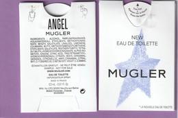 Nouveau PUFFER ***ANGEL*** De T.Mugler  *New Eau De Toilette* R/V - Perfume Cards