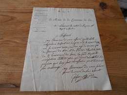 18 - Département Du Var , Arrondissement De Draguignan , Le Maire De La Commune Du Luc, 181? - Historische Documenten