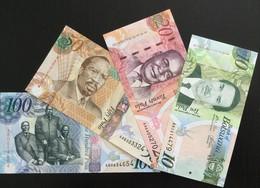 BOTSWANA SET 10 20 50 100 PULA BANKNOTES 2009 UNC - Botswana