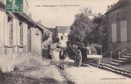 10. GELANNES .CPA. ANIMATION. ATTELAGE. COIN SAINT BARTHÉLEMY.. ANNEE 1910+TEXTE - France
