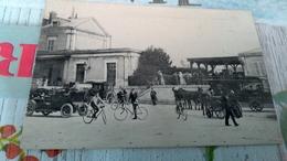 Io CPA Auxerre  Sortie De La Gare - Auxerre