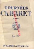 75- PARIS- PROGRAMME THEATRE TOURNEES CH. BARRET-STE JANVIER - MONSIEUR SAINT OBIN-ANDRE PICARD-HARWOOD-PIERRE ETCHEPARE - Programmi