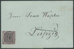 BADEN 4b BRIEF, 1851, 9 Kr. Schwarz Auf Rötlichkarmin, Fast Vollrandig, Mit Nummernstempel 57 Auf Brief Von HEIDELBERG N - Baden