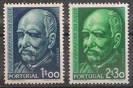 Portugal 1956 - Série Completa Nascimento Dr Ferreira Da Silva 819 820 - Set Complete Birth Da Silva - Mint MNH** Neuf - 1910-... Republic