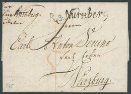 BAYERN R.3. NÜRNBERG, Schreibschrift-L1, Prachtbrief (1805) Nach Würzburg - Germany