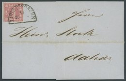 BAYERN 3Ia BRIEF, 1857, 1 Kr. Rosa Auf Ortsbrief Mit Segmentstempel LUDWIGSHAFEN, Pracht - Bavaria