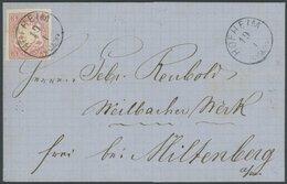 BAYERN 15 BRIEF, 1870, 3 Kr. Hellrötlichkarmin Mit Zierstempel HOFHEIM, Rückseitiger Ankunftsstempel MILTENBERG, Kabinet - Bavaria