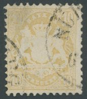 BAYERN 35 O, 1875, 10 Kr. Dunkelchromgelb, Wz. 2, Pracht, Gepr. Pfenninger, Mi. 320.- - Bayern (Baviera)