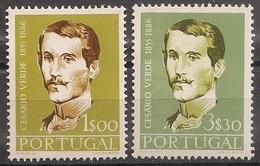 Portugal 1957 - Série Completa Cesário Verde 831 832 - Set Complete Special Edition For Cesario Verde - Mint MNH** Neuf - 1910-... Republic